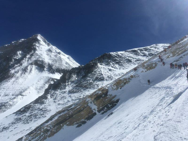 Mount Everest from the Yellow Band and Geneva Spur on the way to Col (Phunuru Sherpa)