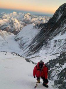 Sherpa Fura Climbing Above Lhotse Camp 4 (Kevin Kayl)