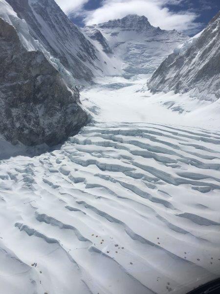 Upper Icefall to the Lhotse Face (Phunuru Sherpa)