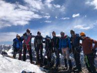 2019 Bolivia Team o the summit of Pequeno Alpamayo (Roberto Gomez)