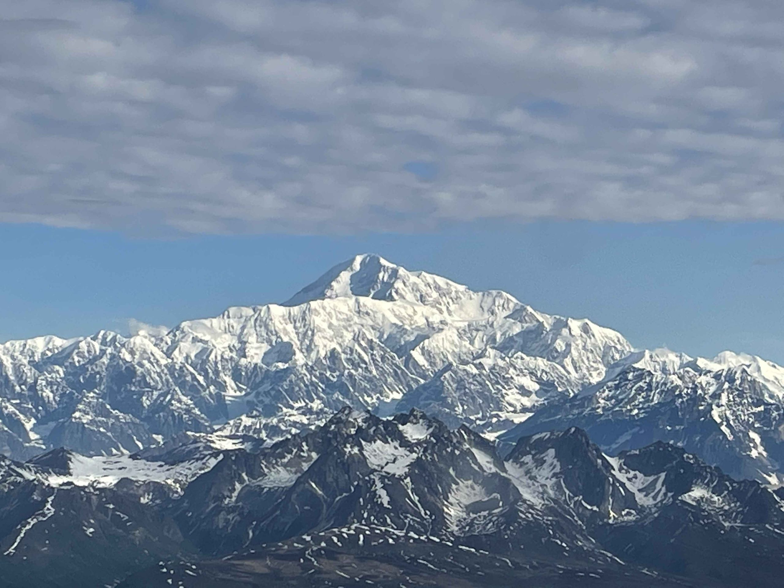 View from the airplane on the way to Denali (Dallas Glass)