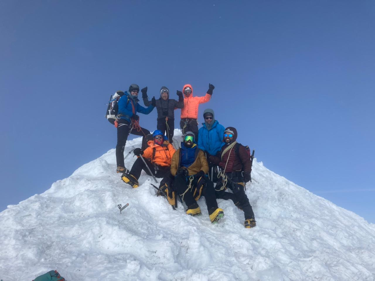 2021 Bolivia Team on Huayna Potosi Summit (Fabricio Gomez)