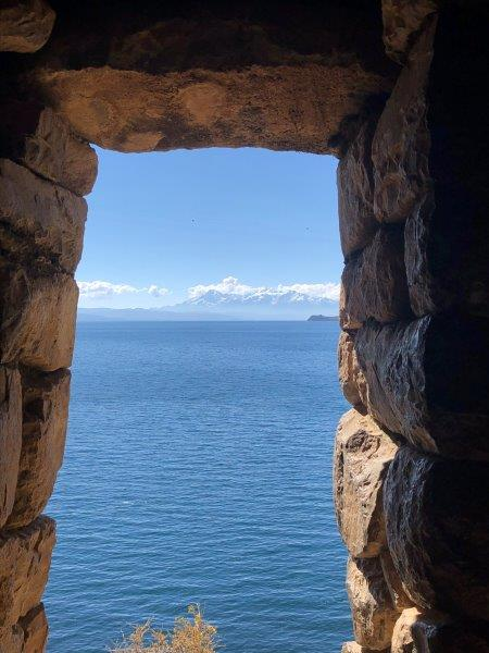 A look through an ancient Aymara window on Sun Island (Adam Clark)