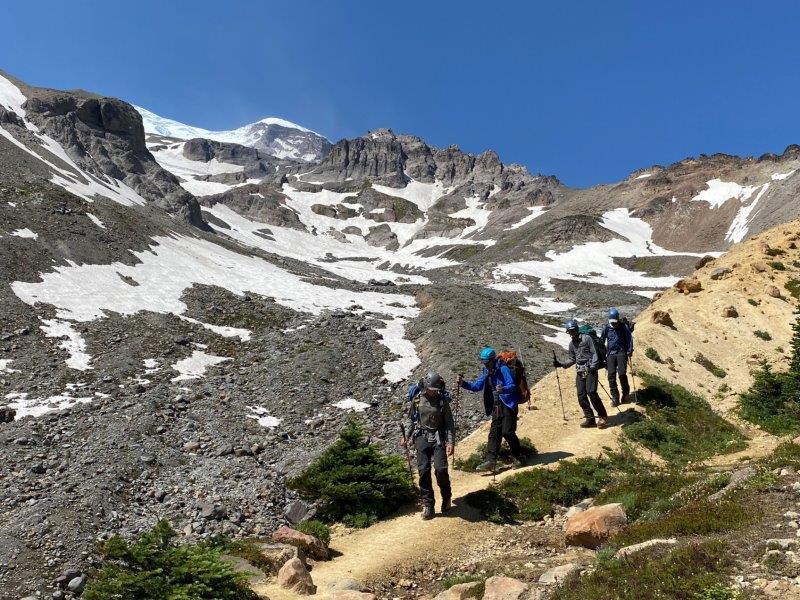 Descending the Emmons Route (Nickel Wood)