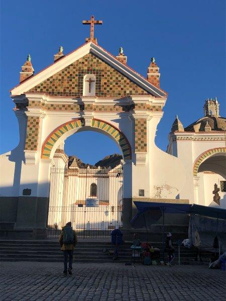 Entrance to Basilica of Our Lady of Copacabana (Adam Clark)