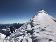Looking up at the summit of Condoriri (Adam Clark)