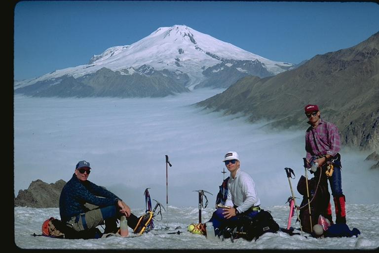 Mt Elbrus from across the Baksan Valley (Eric Simonson)