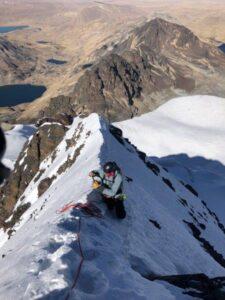 Summit Ridge on Condoriri (Adam Clark)