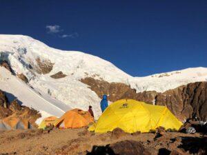 High Camp on Illimani(Adam Clark)