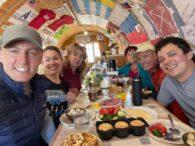 Elbrus Team eating right at Lunch (Sasha Sak)